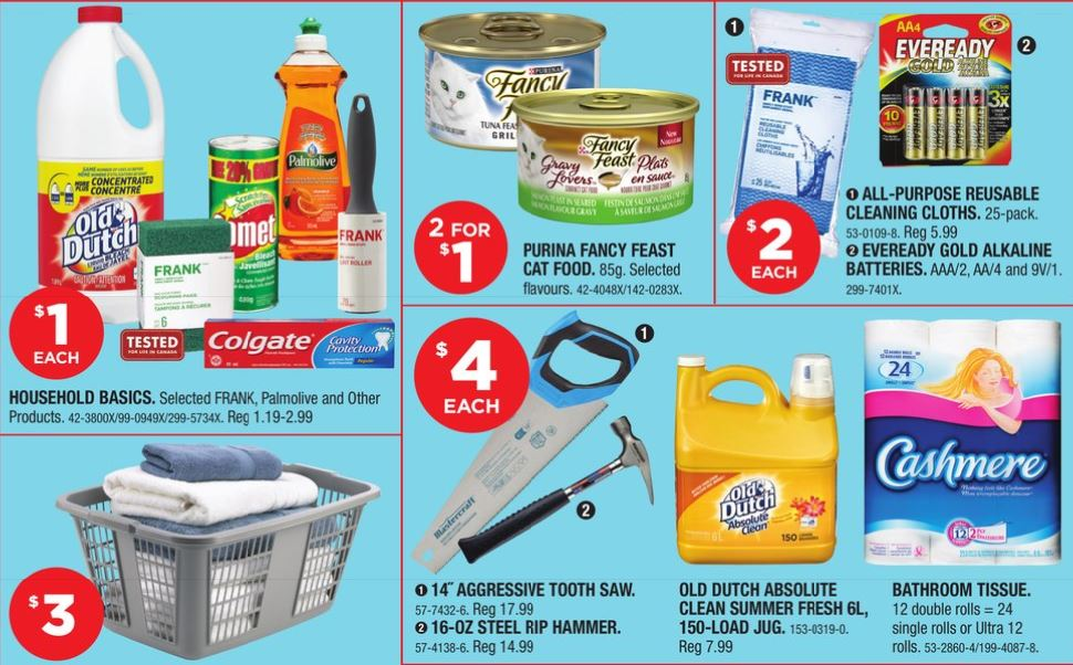 Canadian Tire Dollar Cleaning Supplies