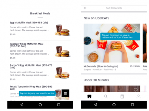 McDonald's Canada Using UberEATS For Delivery in Select