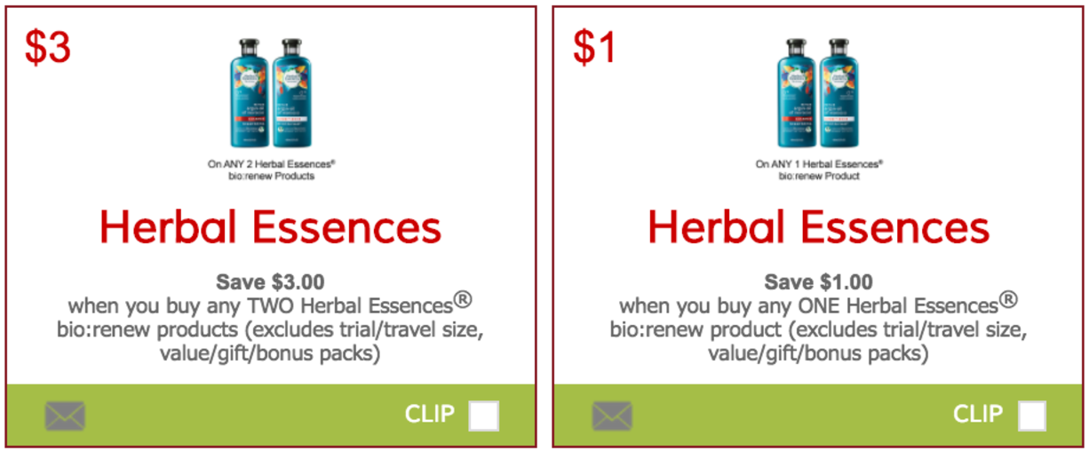 graphic about Herbal Essence Printable Coupons known as Canadian Discount coupons: Help save $4 upon Natural Essences bio:renew