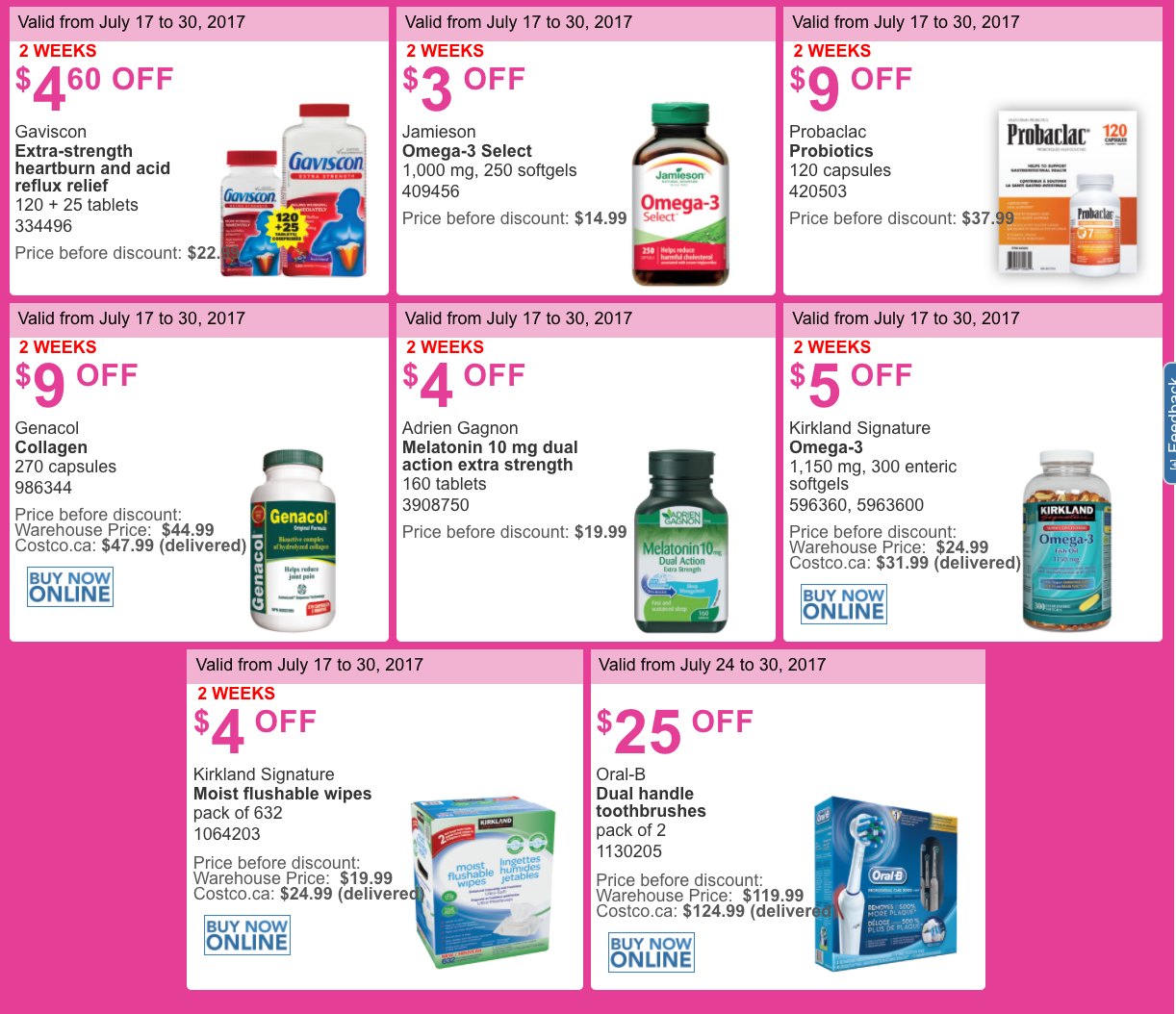 Daily coupons canada