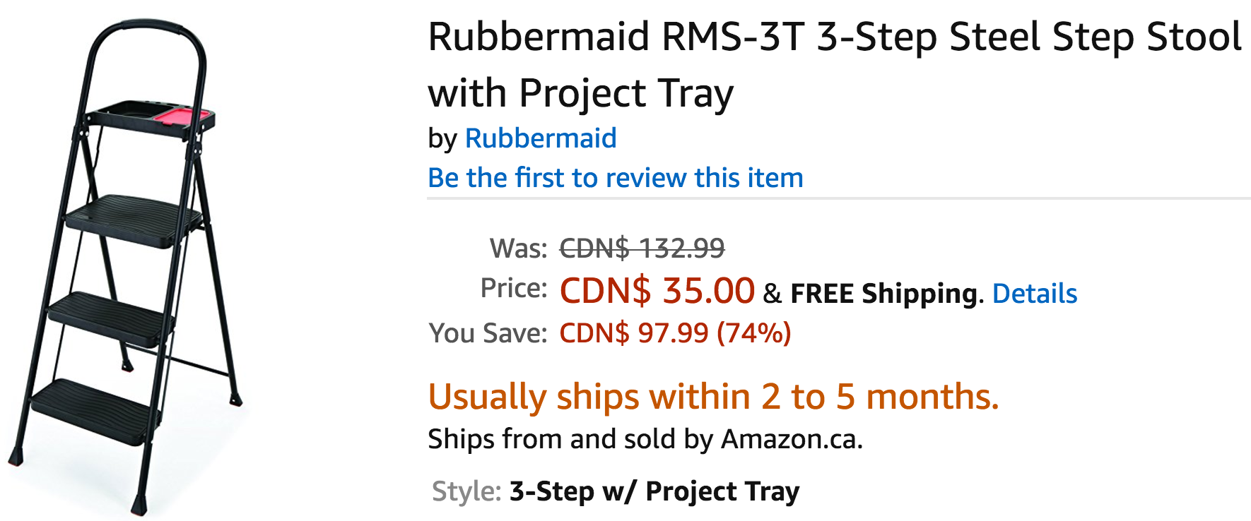 Amazon Canada Deals Save 74% on Rubbermaid 3-Step Steel Step Stool with Project Tray u0026 25% on Graco SnugRide Click Connect 35 Infant Car Seat  sc 1 st  Smart Canucks & Amazon Canada Deals: Save 74% on Rubbermaid 3-Step Steel Step ... islam-shia.org