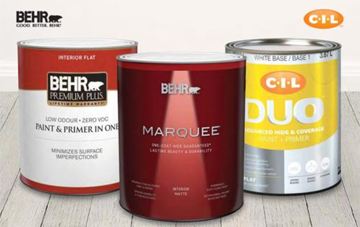 Home depot canada buy more save more save 30 off behr or cil interior or exterior paint for Behr exterior paint with primer reviews