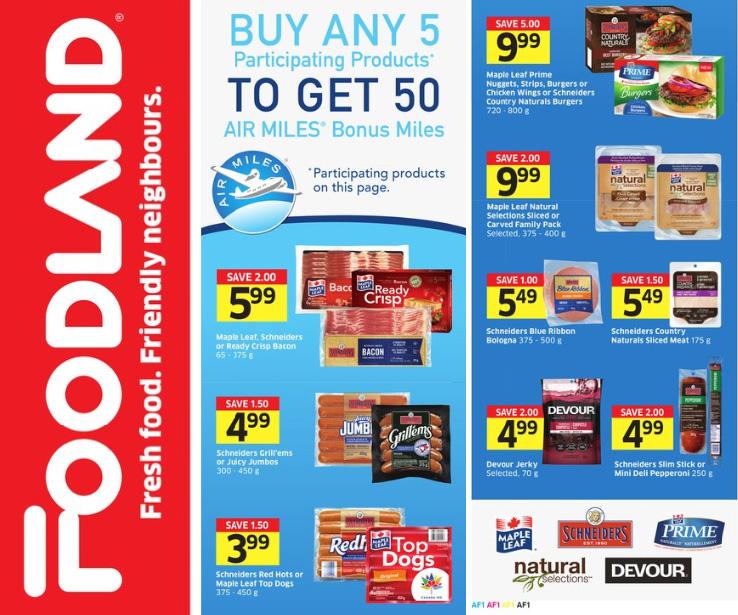 Foodland Ontario Buy 5 Get 50 Air Miles Maple Leaf Deal