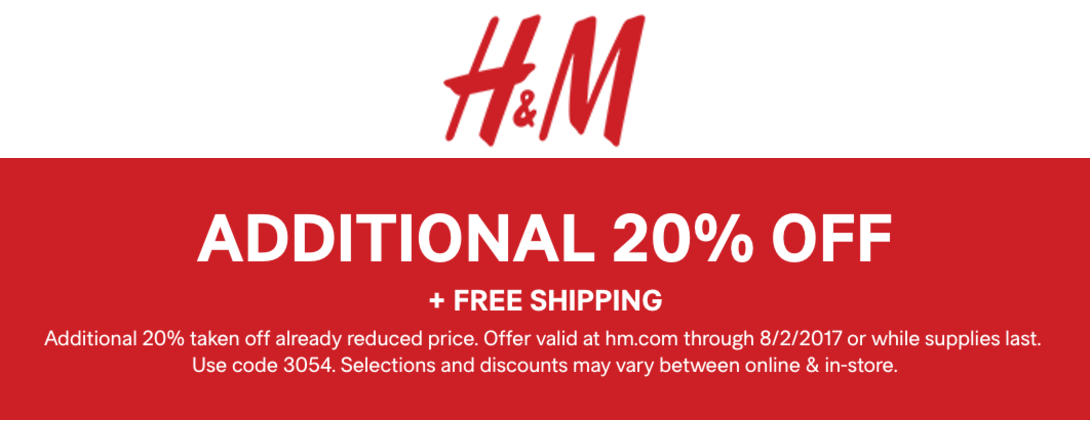 Did you know? This code offers you 15% Off Dress Orders. Get a great bargain on your purchases with this special promotion from H&M.