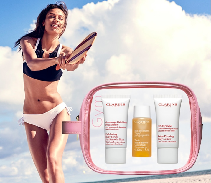 Clarins Canada Deals Receive A Free 4 Piece Beach Ready Gift With Any 100 Order Get 3 Free