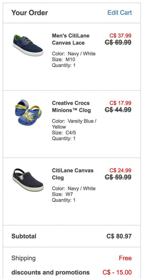 0a03672a8e5d5 Crocs Canada Deals  Save  15 Off  75 Promo Code + Up to 60% Off Sale ...