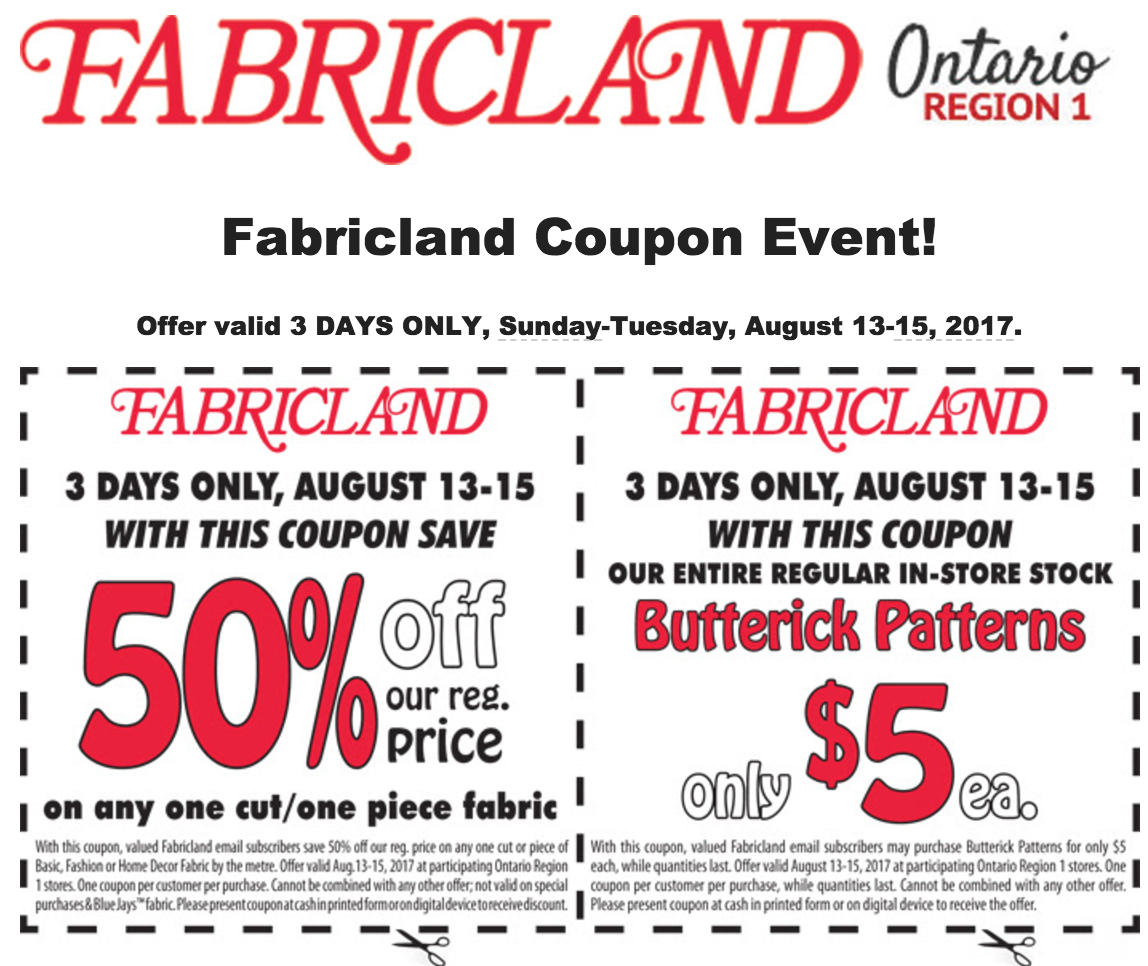 Coupon fabricland