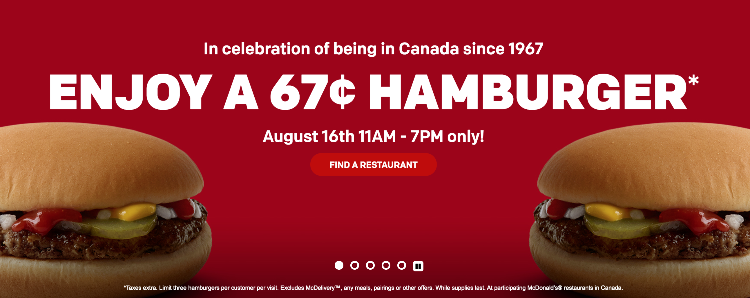 McDonald's Canada Hamburger for Only 67 Cents! | Canadian ...