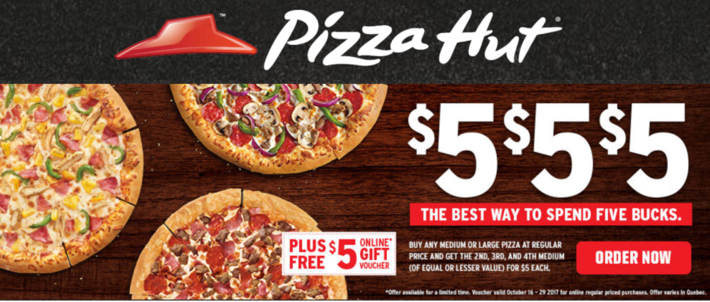 Coupons for Stores Related to pizzahut.ca