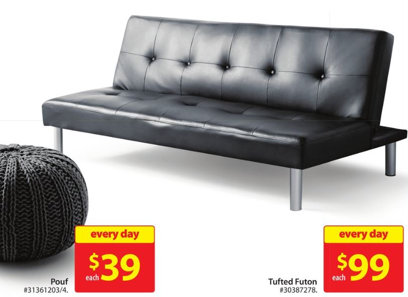 Walmart Canada Deal Mainstays Faux Leather Futon Only 99  : Walmart Mainstays Leather Futon 99 from smartcanucks.ca size 811 x 589 jpeg 56kB