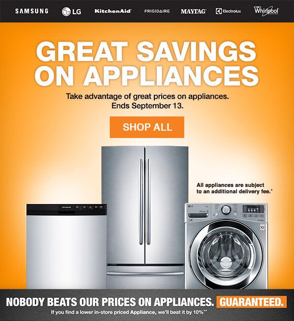 currently there is a sale of 10% off or 24 month deferred interest if you open a home depot credit card. that expires on the 31st so check back at skuzcalsase.ml on the first to see what new specials the home depot may be running for appliances. PS our local sotre is having a 20% off all clearance appliances.