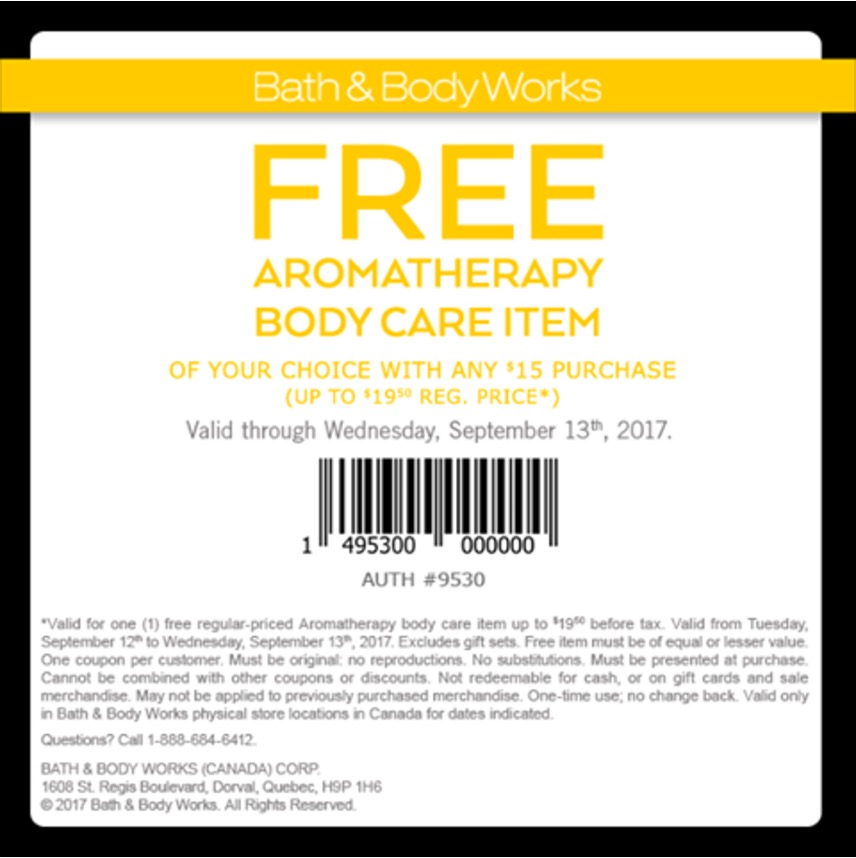 Bath body works coupon code