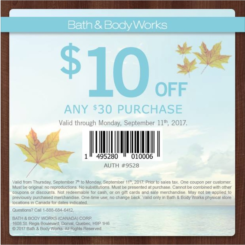 This is a photo of Influential Bath and Body Works Coupons in Store $10 Off $30 Printable