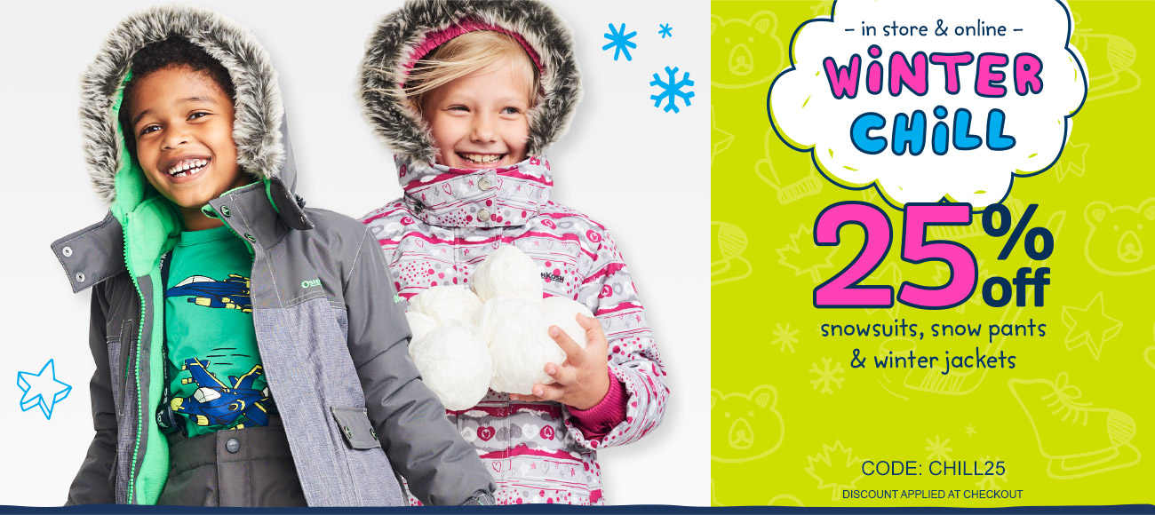 2281c65b8 Carter s OshKosh B Gosh Canada Winter Chill Sale  Save 25% off ...