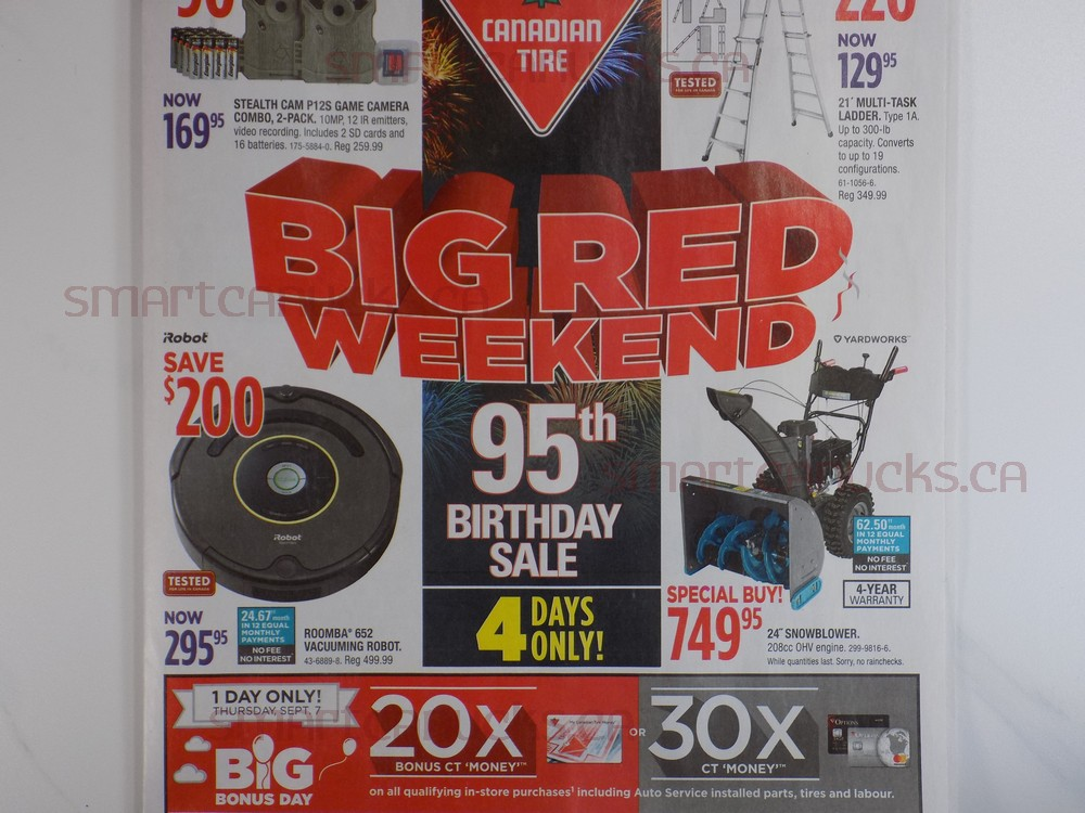 Canadian Tire 20x E Ct Money On Thursday Amp Big Red