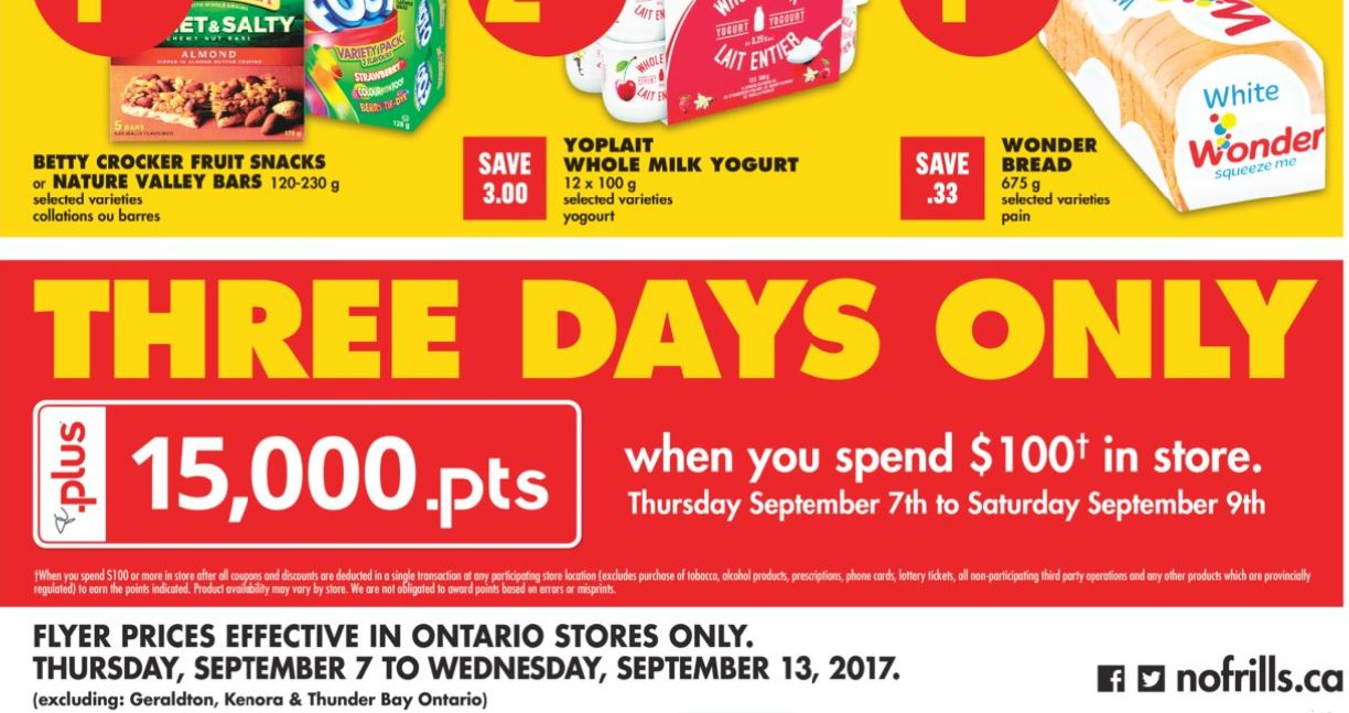 No Frills PC Plus WUS Offer