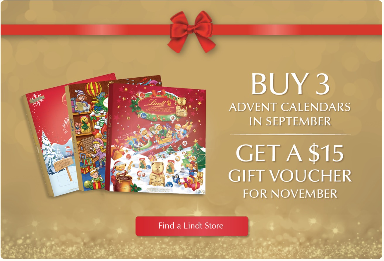 Lindt Chocolate Canada Early Christmas Shopping Sale: Buy 3 advent ...