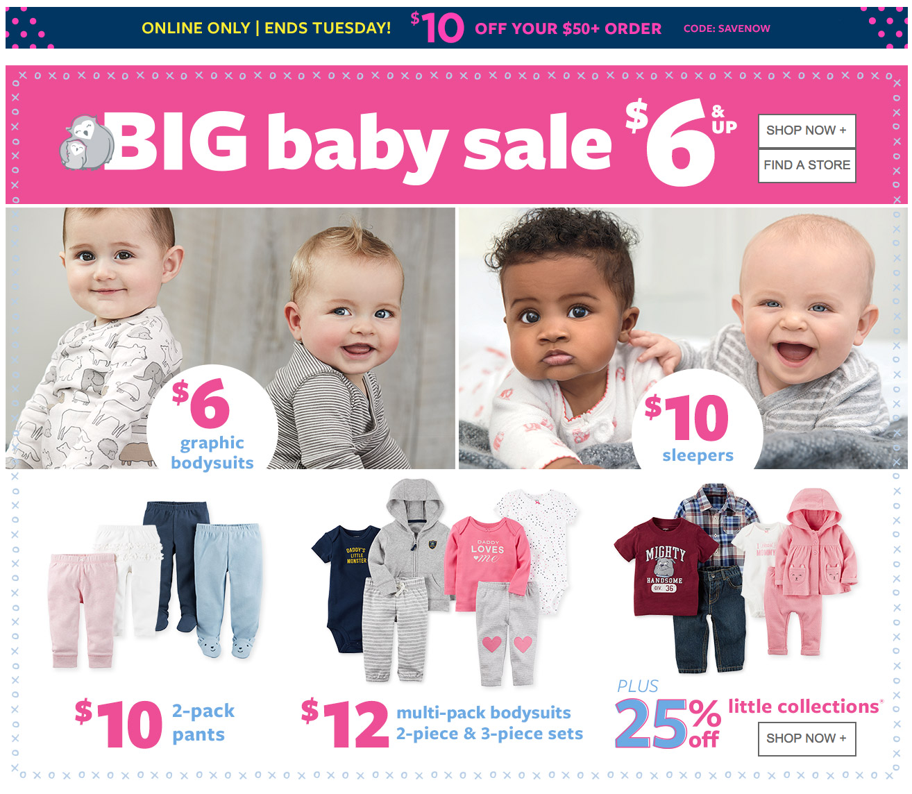 Carter S Oshkosh B Gosh Canada Deals 10 Off 50 Code Big Baby