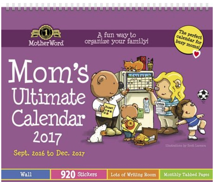Walmart Canada Offers Motherword Family 2018 Calendar For 11 27