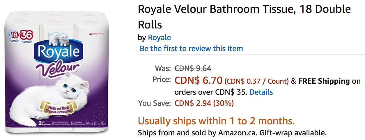 Royale Bathroom Tissue Coupon Canada