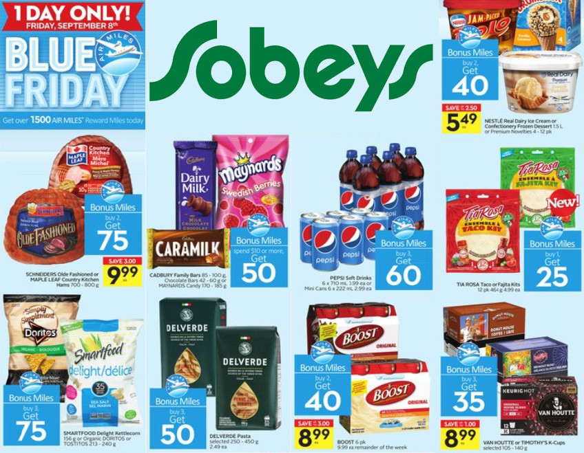 Sobeys Ontario Blue Friday Deals September 2017