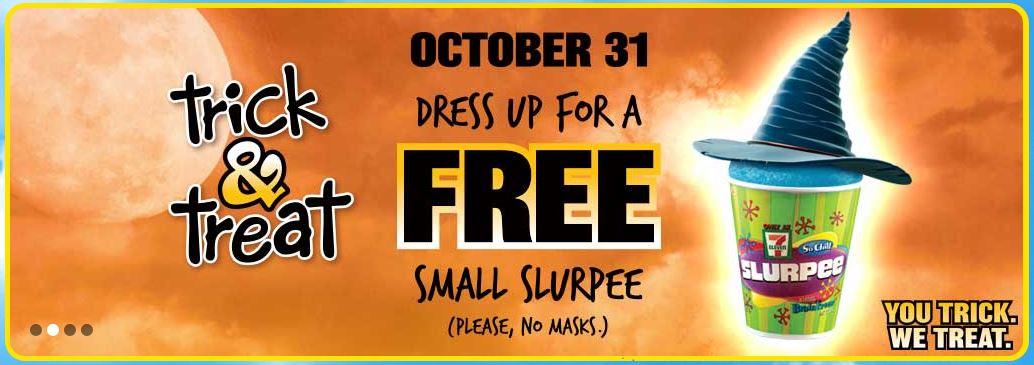 Free Slurpee 7-11 Halloween