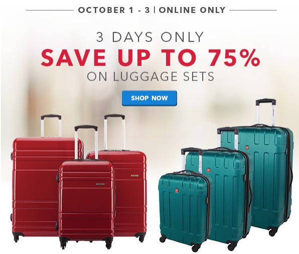 best buy canada deals save 75 on luggage sets by delsey samsonite swiss gear now from 69. Black Bedroom Furniture Sets. Home Design Ideas