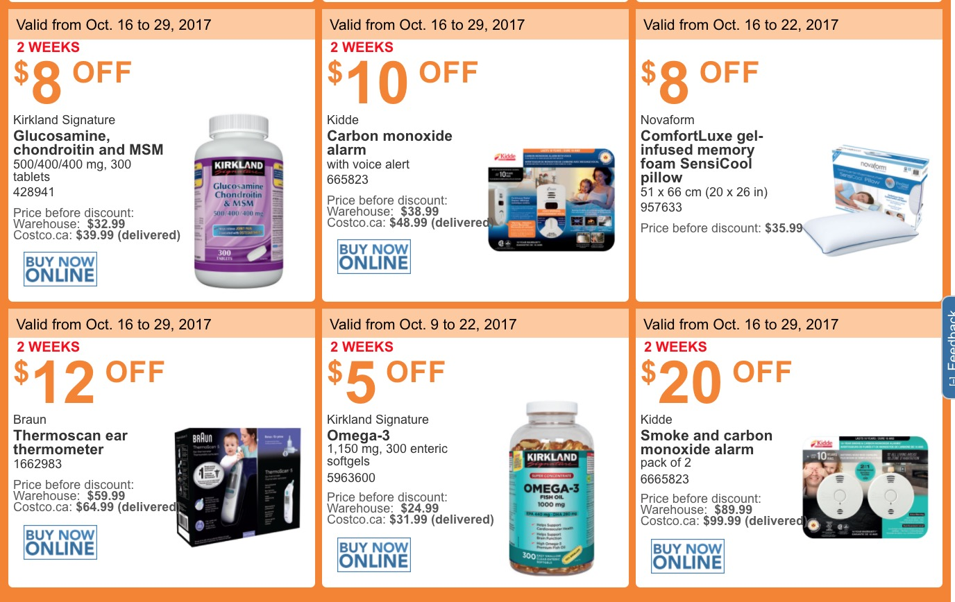 Costco quebec handouts are valid from monday october 16 2017 until sunday october 22 2017 some of these coupons are valid until sunday december 3