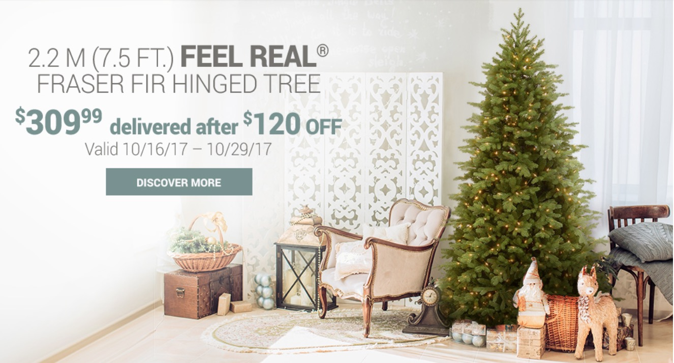 Costco Canada Christmas TREE Deals: Save $120 on Feel Real Fraser ...