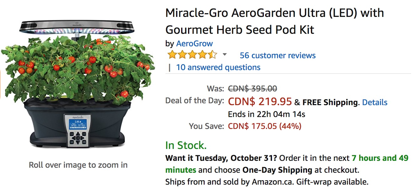 Amazon Canada Deals Of The Day: Save 44% on Miracle-Gro
