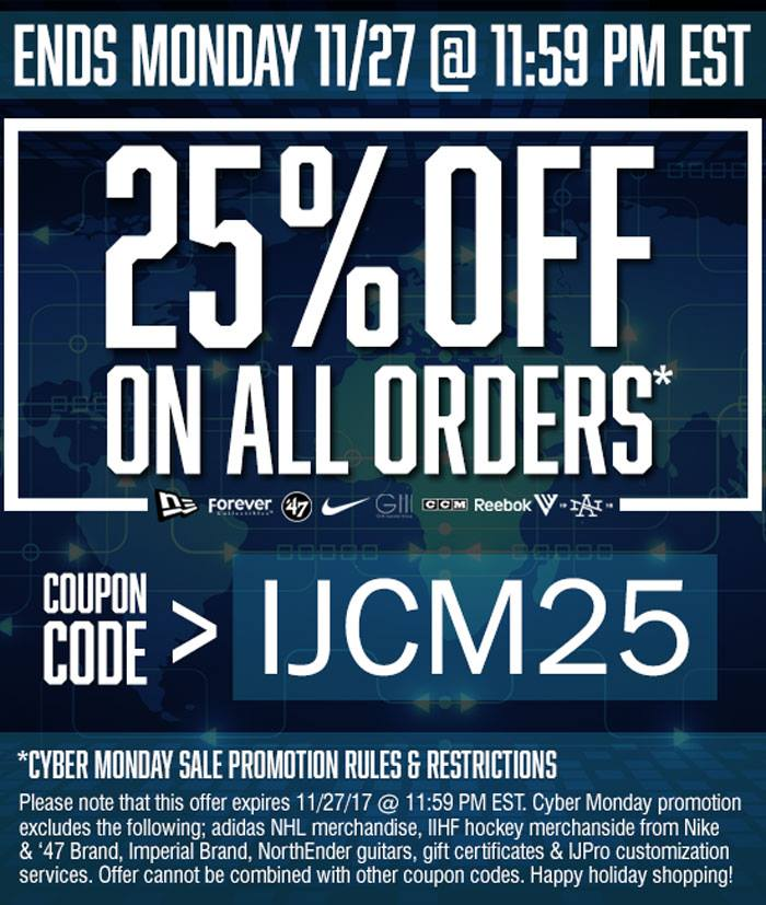 6e5e8853766b With Ice Jerseys Canada s Cyber Monday sale tonight you will save you 25%  off on all orders! To get this deal