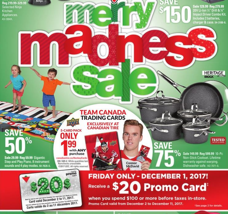 Canadian Tire Promo Card Offer December