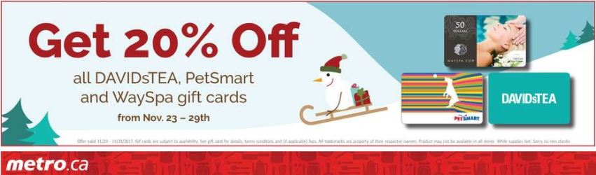 Metro Save on Gift Cards