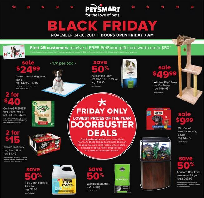 PetSmart Canada Black Friday 2017