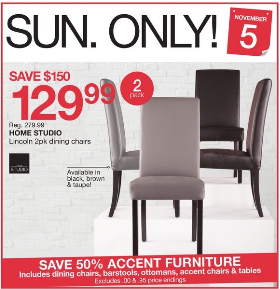 Home Outfitters Canada 1 Day Deals Save 54 On Home Studio Lincoln 2pk Pining Chairs 50 On