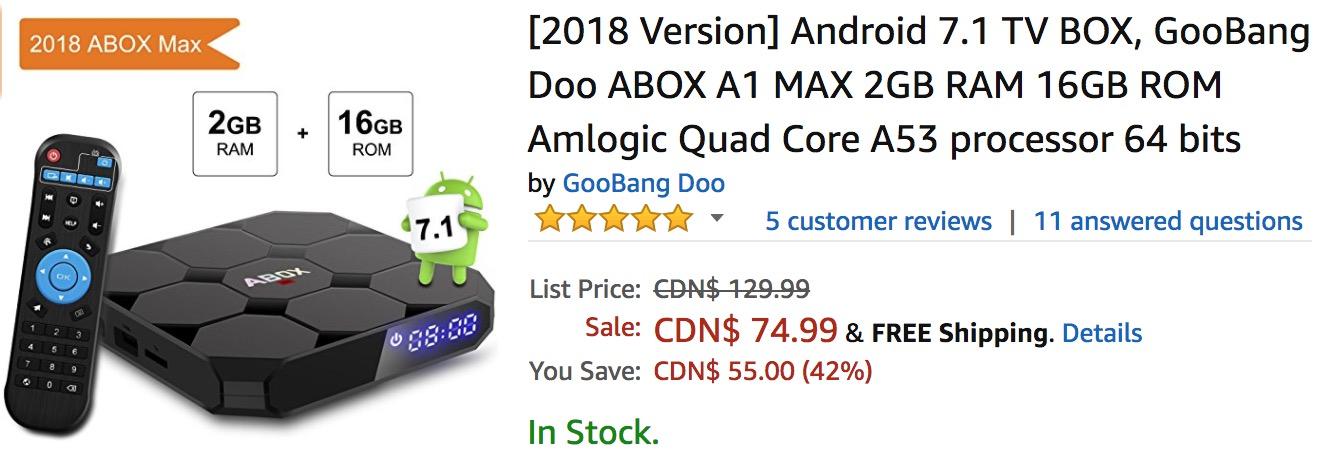 2018 abox max