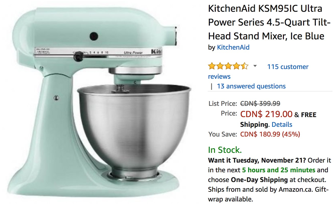 black friday deals 2017 kitchenaid mixer lamoureph blog. Black Bedroom Furniture Sets. Home Design Ideas