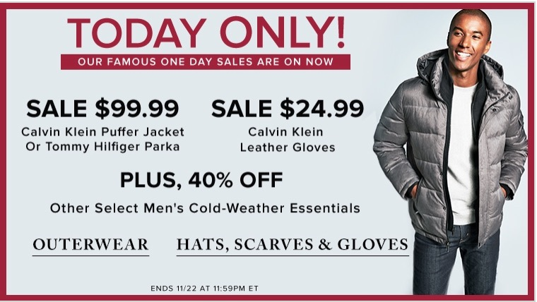 60f34ae69 Hudson's Bay Canada Pre Black Friday 1-Day Sale: $99.99 Calvin Klein or Tommy  Hilfiger Men's Puffer & more