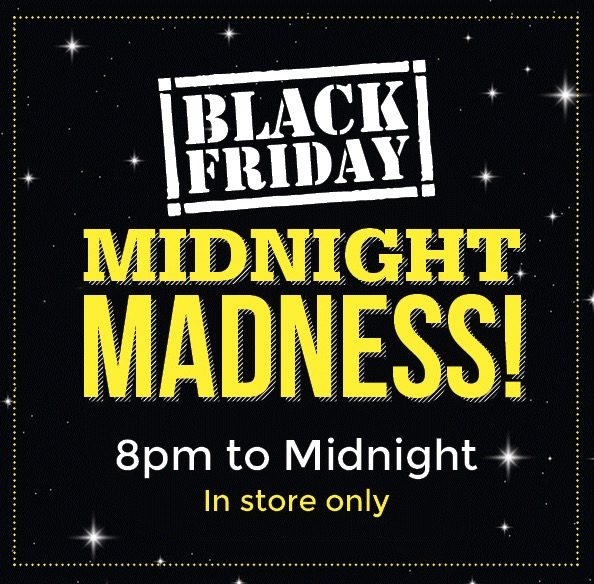 Managers expect a big crowd because there will be midnight deals.