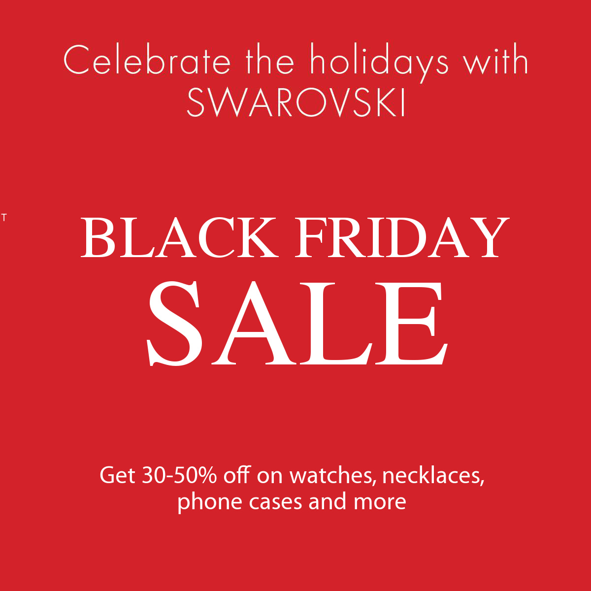 Adepto Diplomático piloto  Swarovski Canada Black Friday 2017 Sale: Save 30-50% off | Canadian  Freebies, Coupons, Deals, Bargains, Flyers, Contests Canada