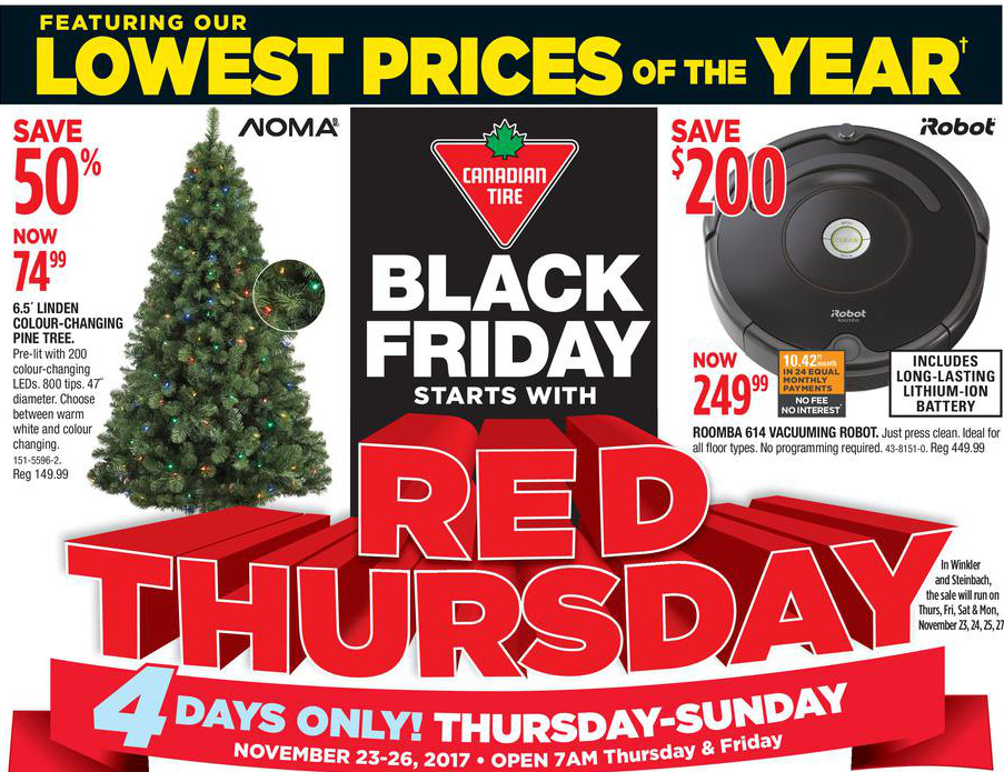 Canadian Tire Black Friday Amp Cyber Monday Flyer 2017 Full
