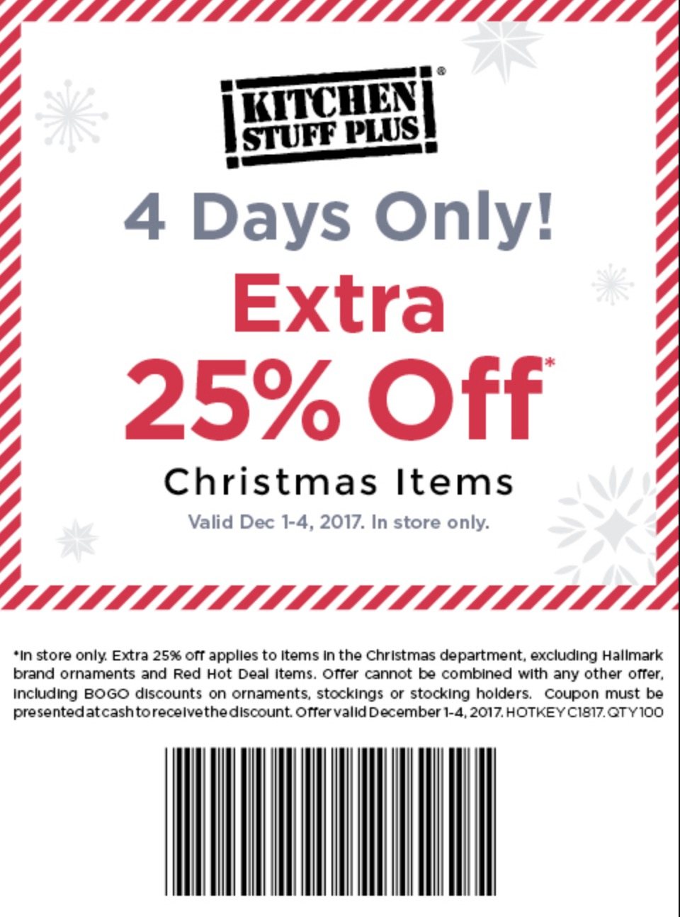 kitchen stuff plus canada has an awesome coupon valid for 4 days only from today friday december 1 2017 until monday december 4 2017 - Kitchen Stuff Plus