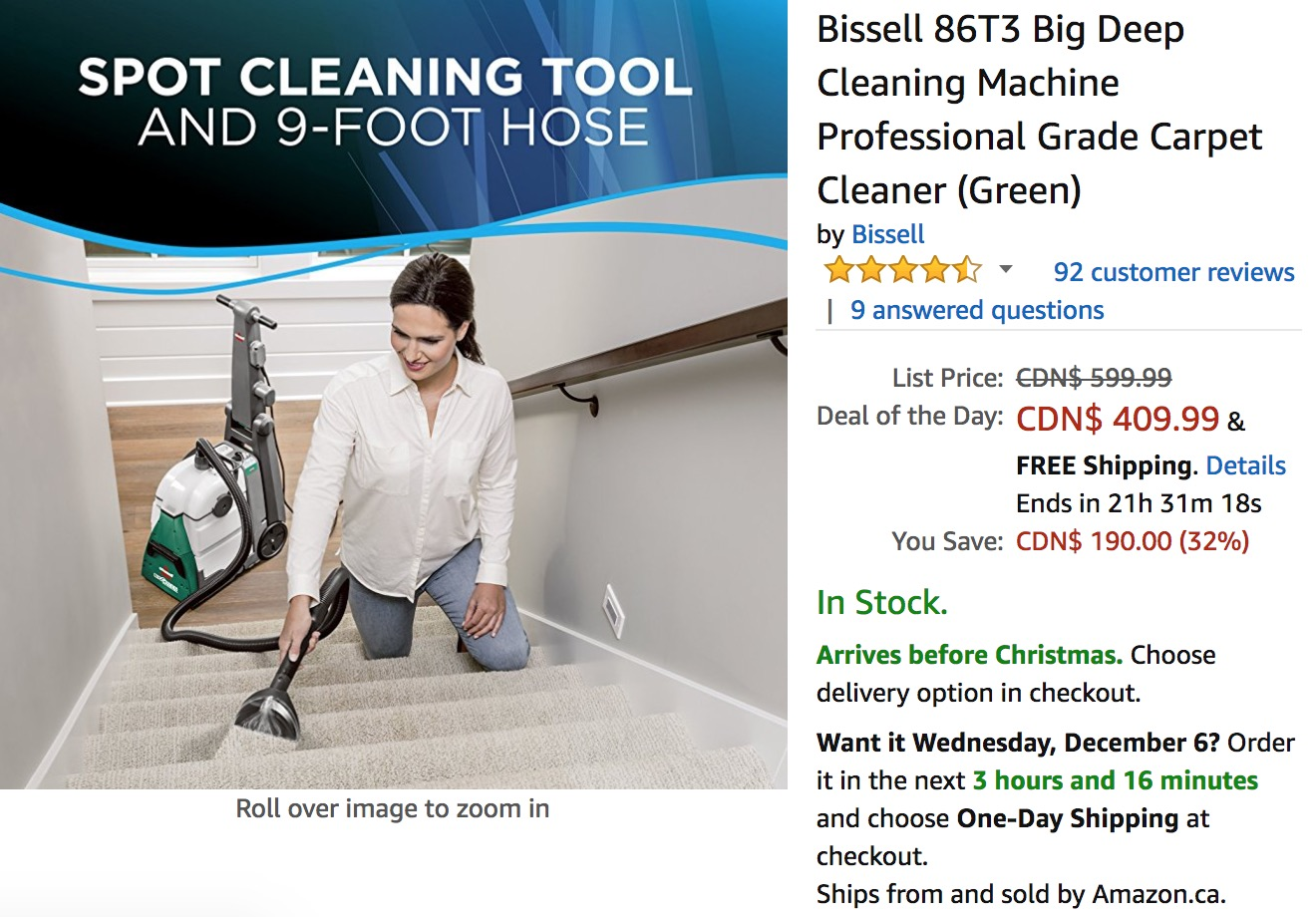 Amazon Canada Holiday Deals Of The Day Save 32 Bissell