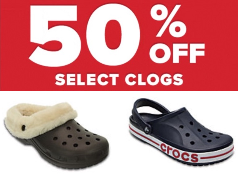 2dbbe34c8 Crocs Canada has a great Holiday Deal available today that includes  Save 50%  off select styles. The discount applied in cart! This Crocs offer is valid  ...