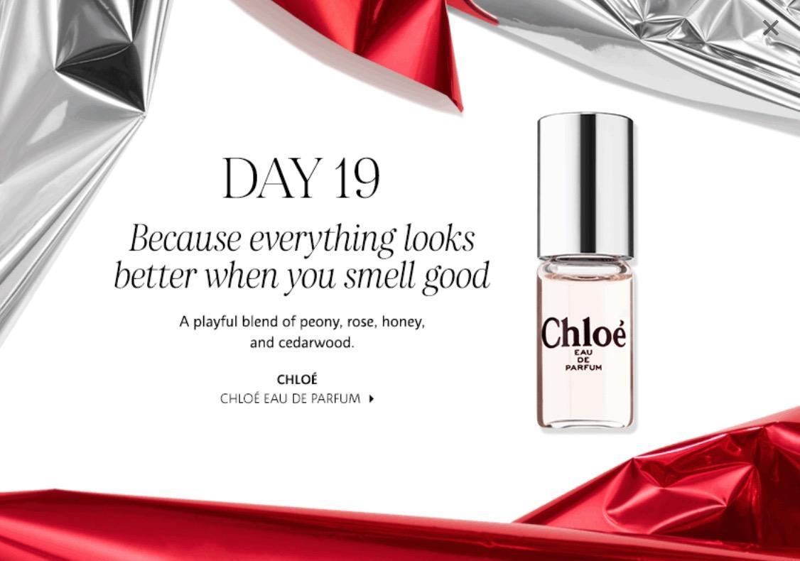 Sephora Canada 25 Days Of Delights Deals Today Free Chlo Eau De Parfum Canadian Freebies