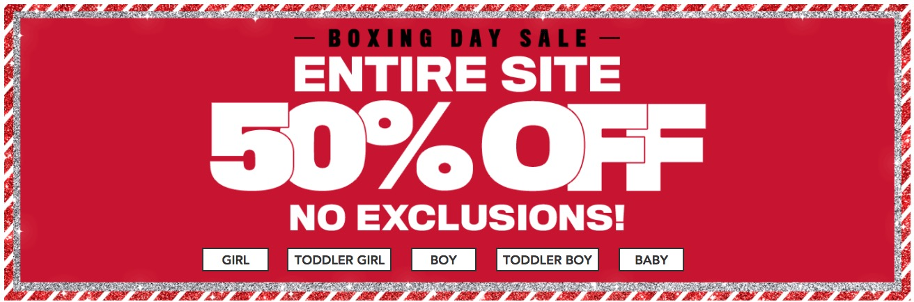 be9edf1cee The Children's Place Canada Boxing Day Sale: Save 50% Off Everything  Sitewide + 65% Off Outerwear & All Clearance + FREE Shipping