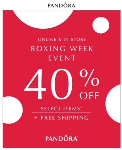 Pandora Canada Has A Great Boxing Day Week Sale Available Now That Includes
