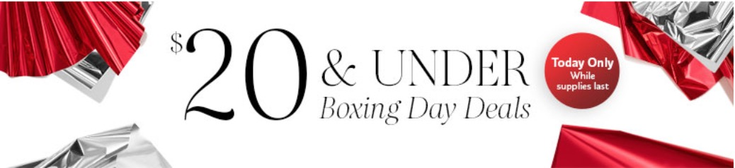 Sephora Canada Boxing Day Sale 20 Under Deals Today