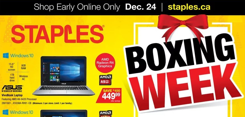 Staples Boxing Day Canada