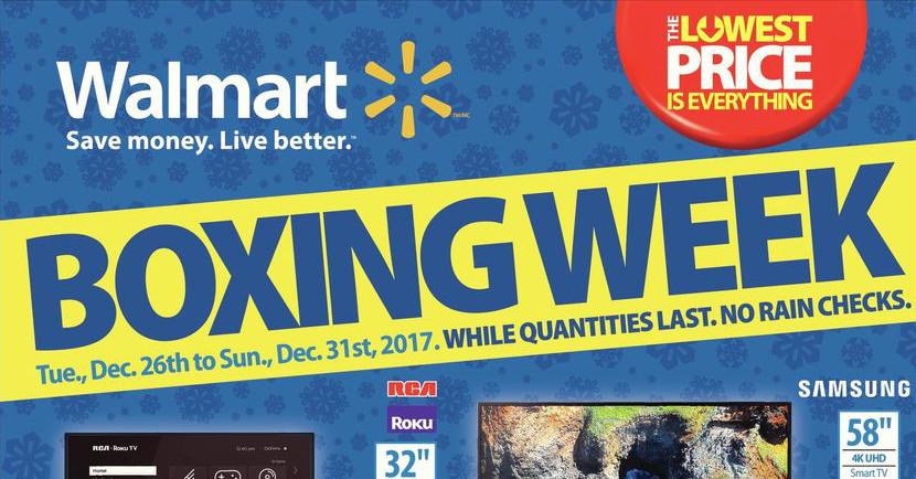 13db143ec8 Walmart Canada Boxing Day   Boxing Week Flyer   Deals 2017. December 21st  ...